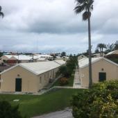 Warwick Camp Barracks is a series of buildings with bunks, Bermuda